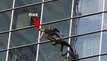 P!nk Hangs Off L.A. Skyscraper to Rehearse for American Music Awards