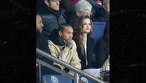 Tyga Hits Up Soccer Match in Paris with Model Barbara Palvin