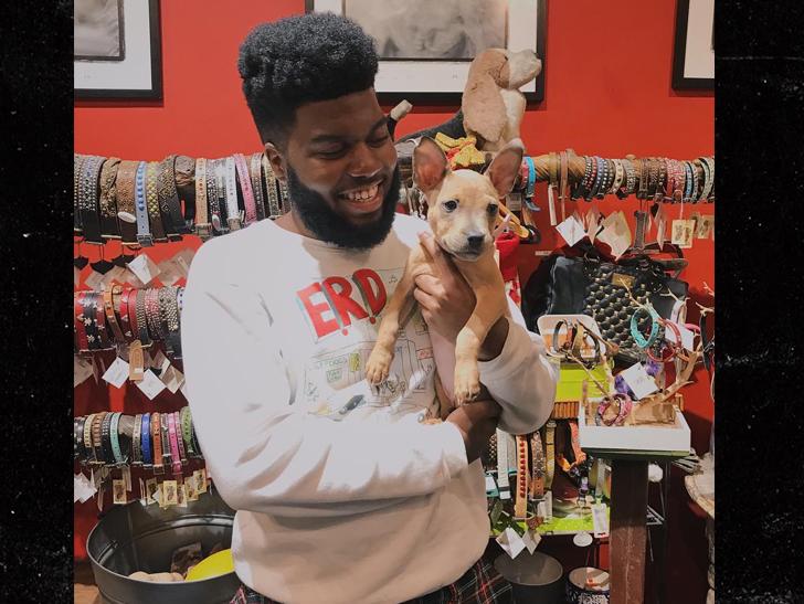 Photo of Khalid & his  Dog Roxy
