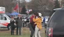 Malia Obama Kissing, Tailgating at First Harvard-Yale Game