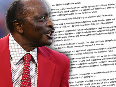 Joe Morgan Goes Tupac On Steroid Users, KEEP 'EM OUT OF HALL OF FAME