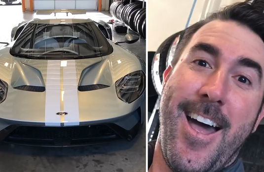 Justin Verlander Shows Off Super Rare K Ford Gt Celebrity Videos Tmz Com