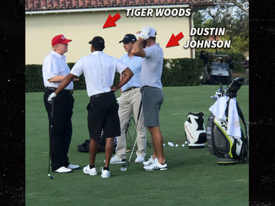 Donald Trump Plays Golf with Tiger Woods