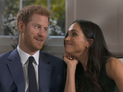 Prince Harry and Meghan Markle Goof Around After Engagement Interview