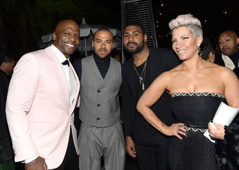 Terry Crews, Jesse Williams, Anthony Green, and Rebecca King-Crews