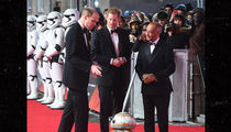Prince William and Prince Harry Attend 'Star Wars: The Last Jedi' Premiere in London