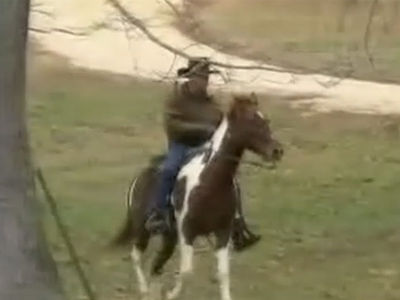 Roy Moore Shows Up Riding a Horse to Vote in U.S. Senate Race