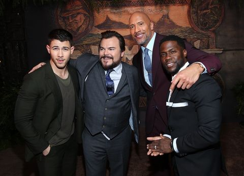 Nick Jonas, Jack Black, The Rock and Kevin Hart