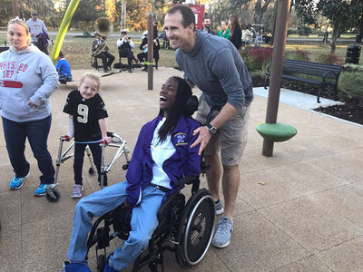 Drew Brees Opens Incredible Playground for Special Needs Kids