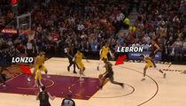 LeBron James' Lonzo Ball Dunk Prediction Comes True