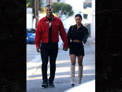 abfbc0092437 Karrueche Tran Thongs Out with Victor Cruz · Karrueche Tran Spotted Holding  Hands with Smiling NFL WR Victor Cruz