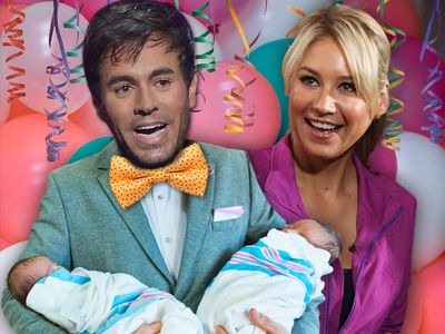Anna Kournikova & Enrique Iglesias Have Twins After Super Private Pregnancy
