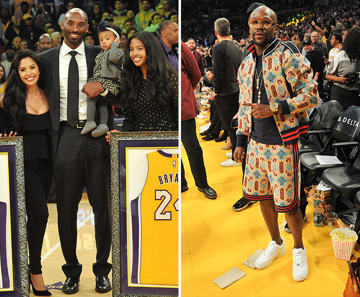 8800caf3dbb Kobe Bryant Jersey Night Marred By Mayweather s Terrible Outfit ...