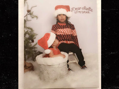 Blac Chyna's Kids Dream and King Pose For Christmas Card