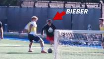 Justin Bieber Goes Full Neymar, Nutmegs Dude In Soccer Game
