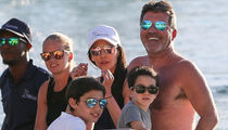 Simon Cowell and GF Lauren Silverman Living it up in Barbados