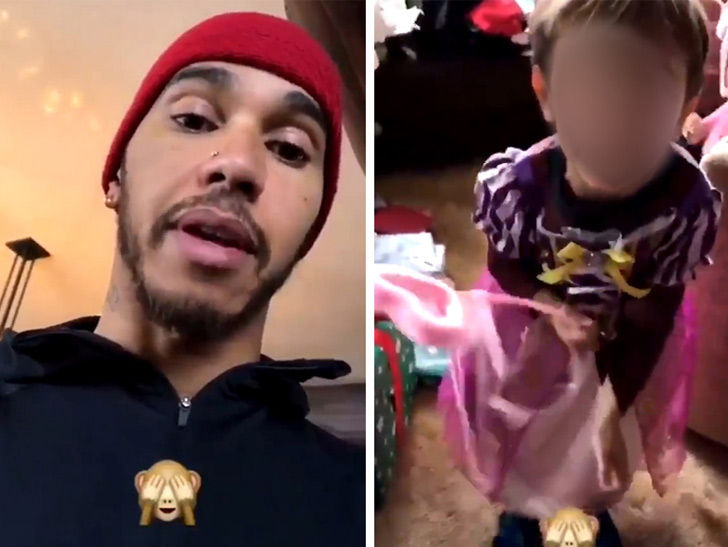 lewis hamilton shames nephew for wearing princess dress update rh tmz com
