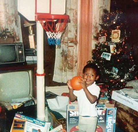 Before this baller baby was heating up the court he was just another sporty kid with big hoop dreams in Akron, Ohio.