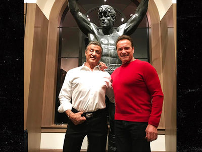 Sylvester Stallone Drops 6 Figures On Iconic 'Rocky' Statue!