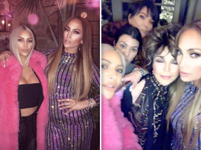Kim Kardashian Parties with Jennifer Lopez, A-Rod for 'Taco Wednesday'