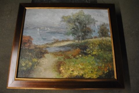 Landscape Knife Painting -- estimated: $200 - $400