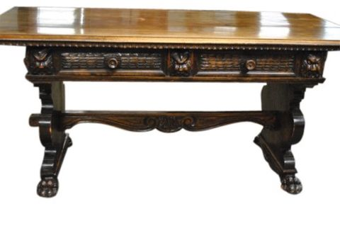 Antique Walnut Library Table -- estimated: $800 - $1,200