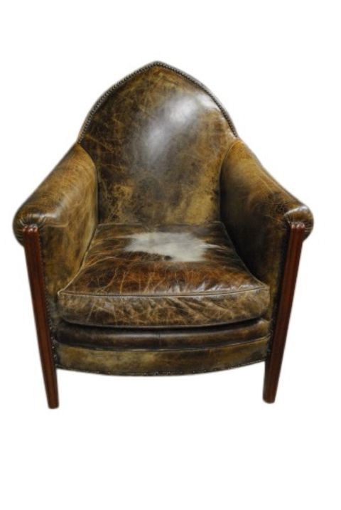 Gothic Leather Chair -- estimated: $200 - $400