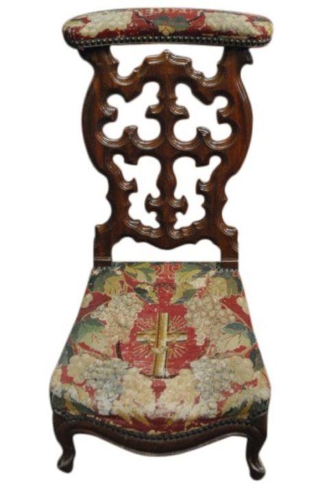 Antique Needlepoint Prayer Chair -- estimated: $200 - $400