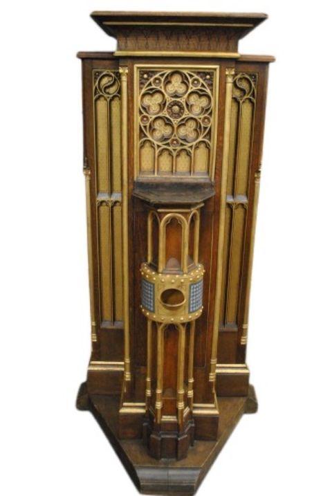 Antique Church Offering Podium -- estimated: $500 - $1,000