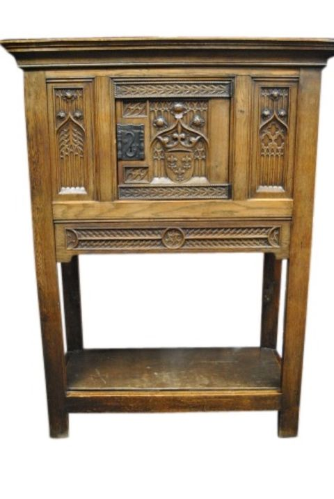Antique Oak Cabinet -- estimated: $600 - $1,200