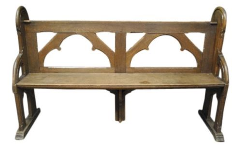 Antique Gothic Deacons Bench -- estimated: $400 - $800