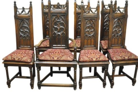 7 Cher's Gothic Chairs -- estimated: $1,500 - $3,000