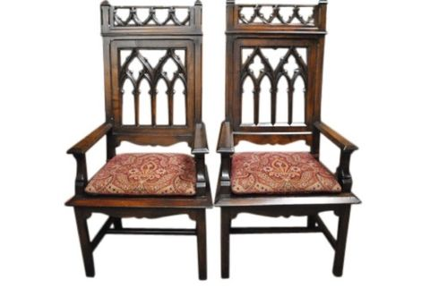 2 Cher's Throne Chairs -- estimated: $800 - $1,600