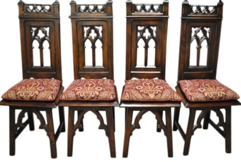 4 Cher's Anique Gothic Chairs -- estimated: $800 - $1,600