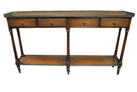 Leather Console Table -- estimated: $200 - $400