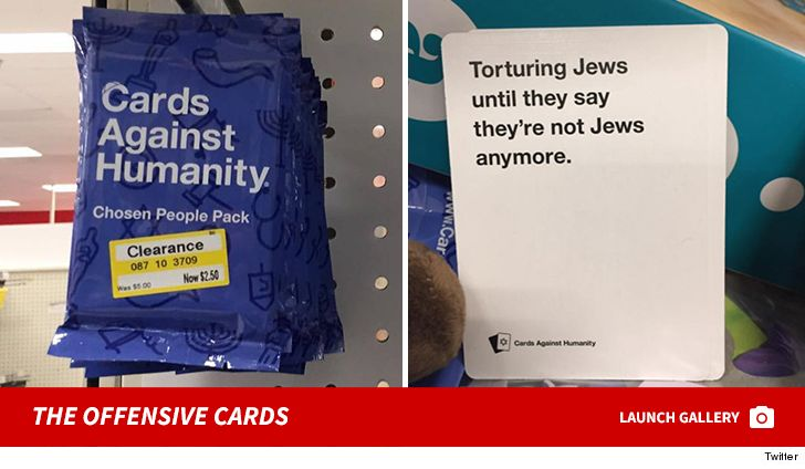 Holocaust The Posting Caused Immediate Backlash Target Responded With Tmz Target Apologizes Pulls Antisemitic Cards Against Humanity Game