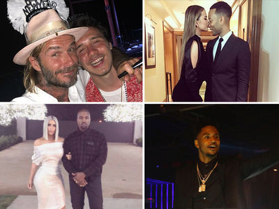 Cristiano Ronaldo, Kim, Kanye and Others Captured in Awesome New Year's Eve Photos