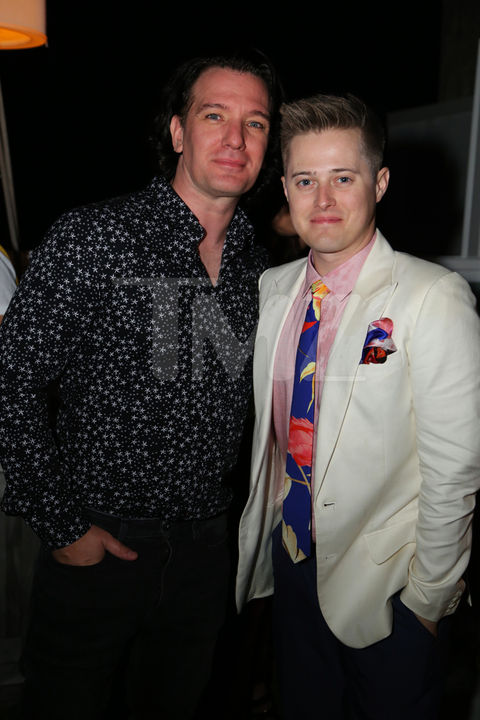 JC Chasez and Lucas Grabiel snapped a pic on New Years at 1 Hotel Rooftop