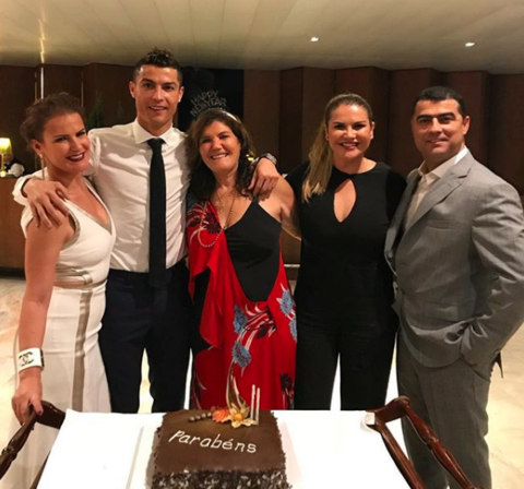 Cristiano Ronaldo rang in the New Year with mom and friends