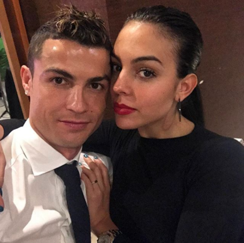 Cristiano Ronaldo and girlfriend Georgina Rodriguez snapped a selfie before jumping into 2018