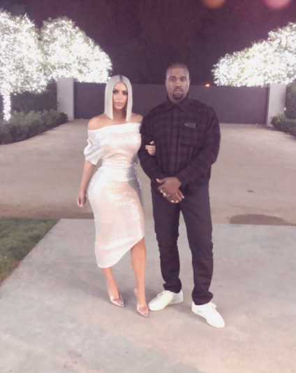 Kim and Kanye looked fantastic bringing in the New Year