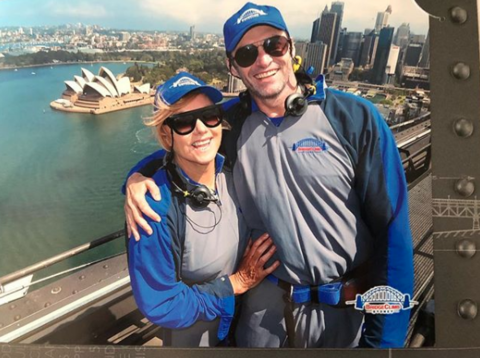 Hugh Jackman climbed the Sydney Harbour Bridge on New Years day this year.