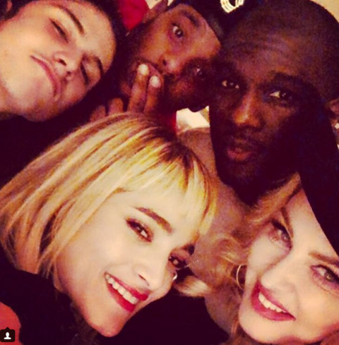 Madonna celebrated with close friends on NYE