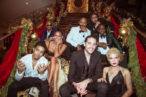 Diddy with friend and family on NYE