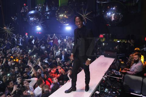 Travis Scott performing at LIV in Miami