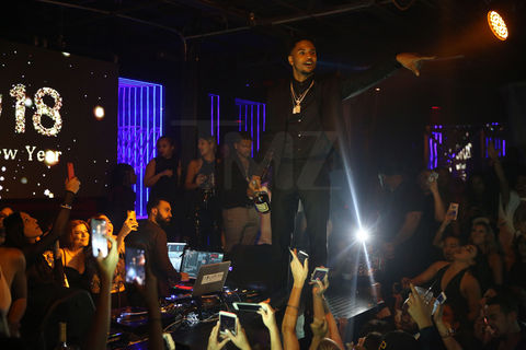 Trey Songz hosted a party at Rockwell in Miami