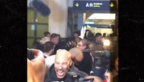 LaVar Ball Arrives in Lithuania, MOBBED By Photogs!