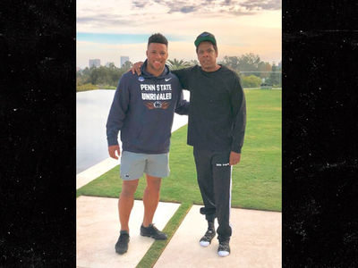 Jay-Z Signs Saquon Barkley to Roc Nation Sports