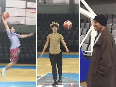 LiAngelo & LaMelo Ball: 1st Lithuania Hoops Sesh ... with LaVar!