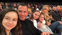 Jennifer Lopez, Alex Rodriguez Take Kids to Lakers Game
